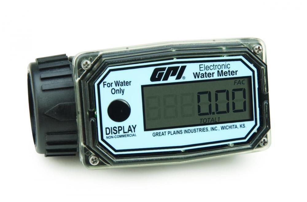 Electronic Water Meter : In line digital water meter battery economy nylon model