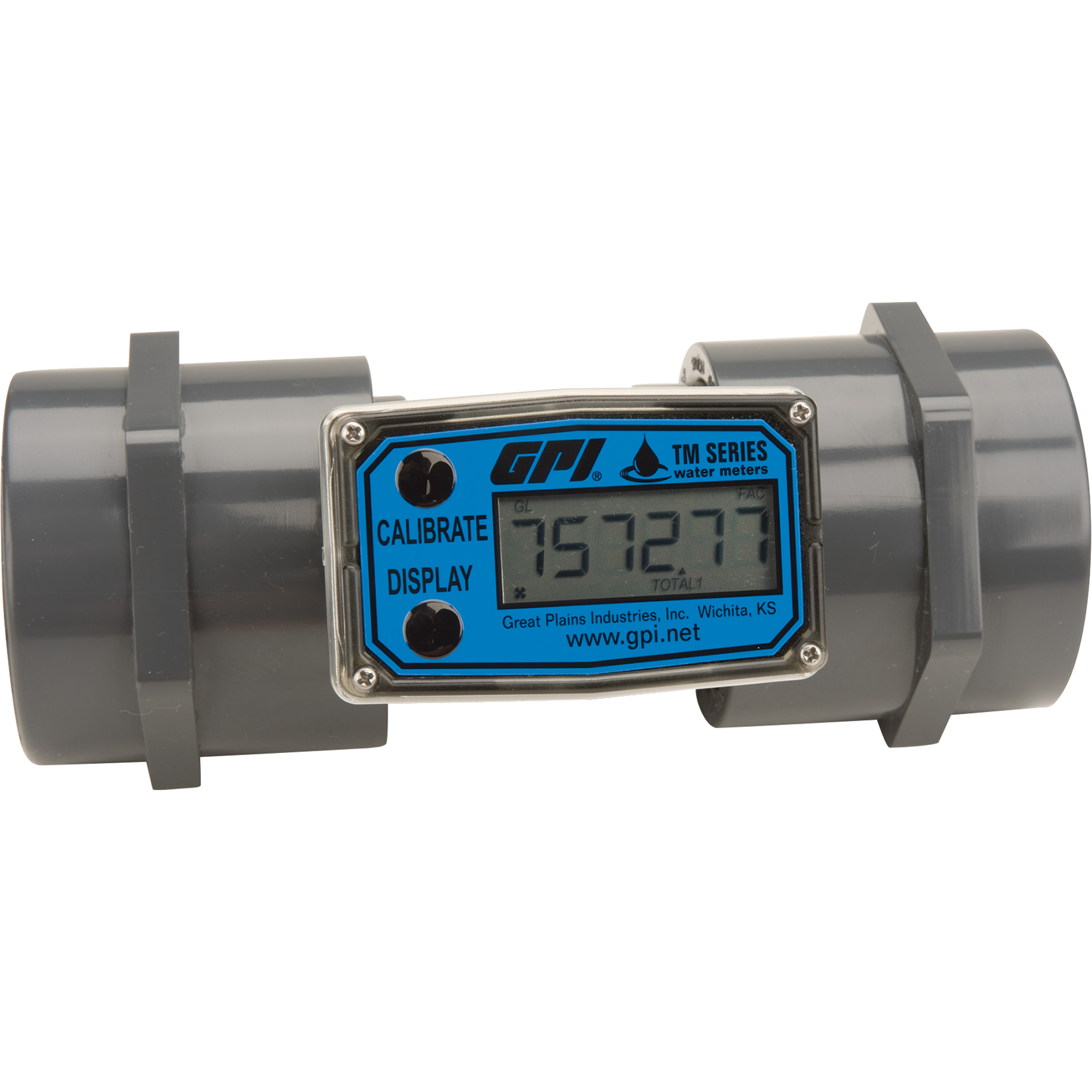 Electronic Flow Meter : Economical inline digital turbine flow meter quot npt