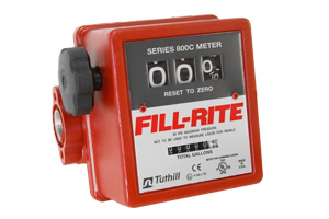 Fill-Rite Mechanical Fuel Flow Meter :: 3-wheel, 15-76 LPM