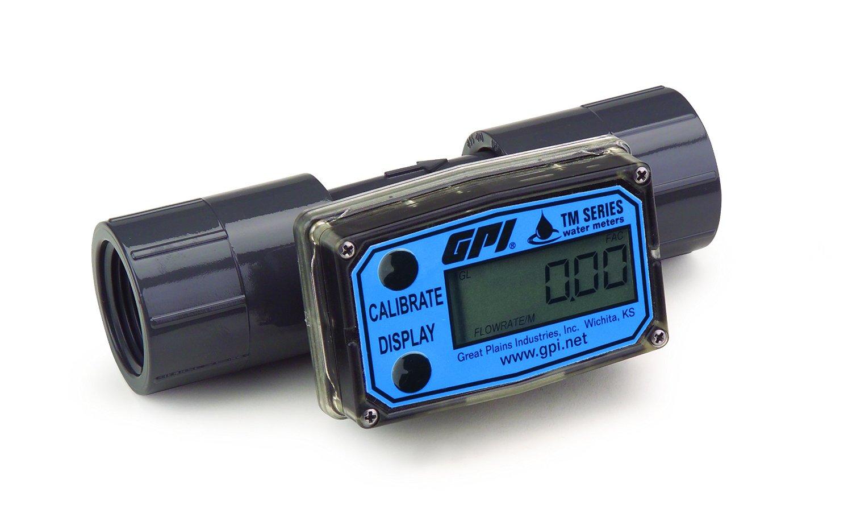 Digital Flow Meter : Economical digital turbine flow meter quot npt pvc