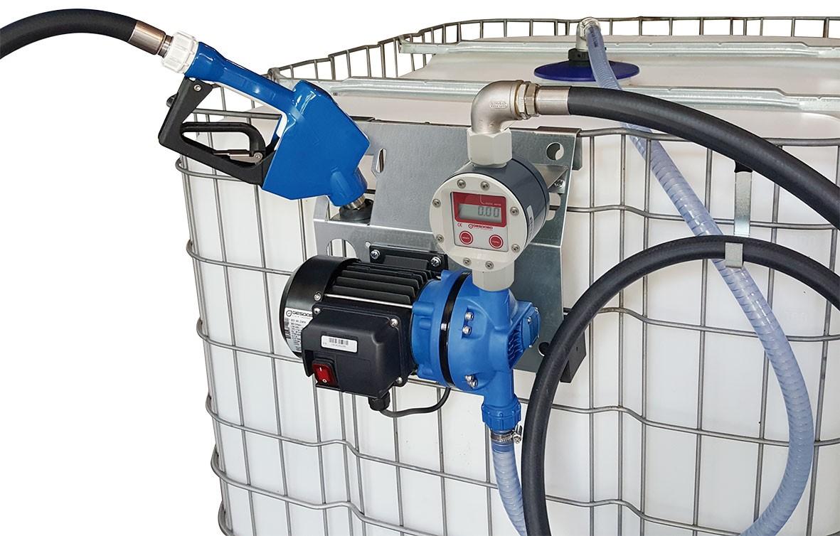 AdBlue™ IBC supply kit :: 230vAC Diaphragm Pump and Manual Nozzle