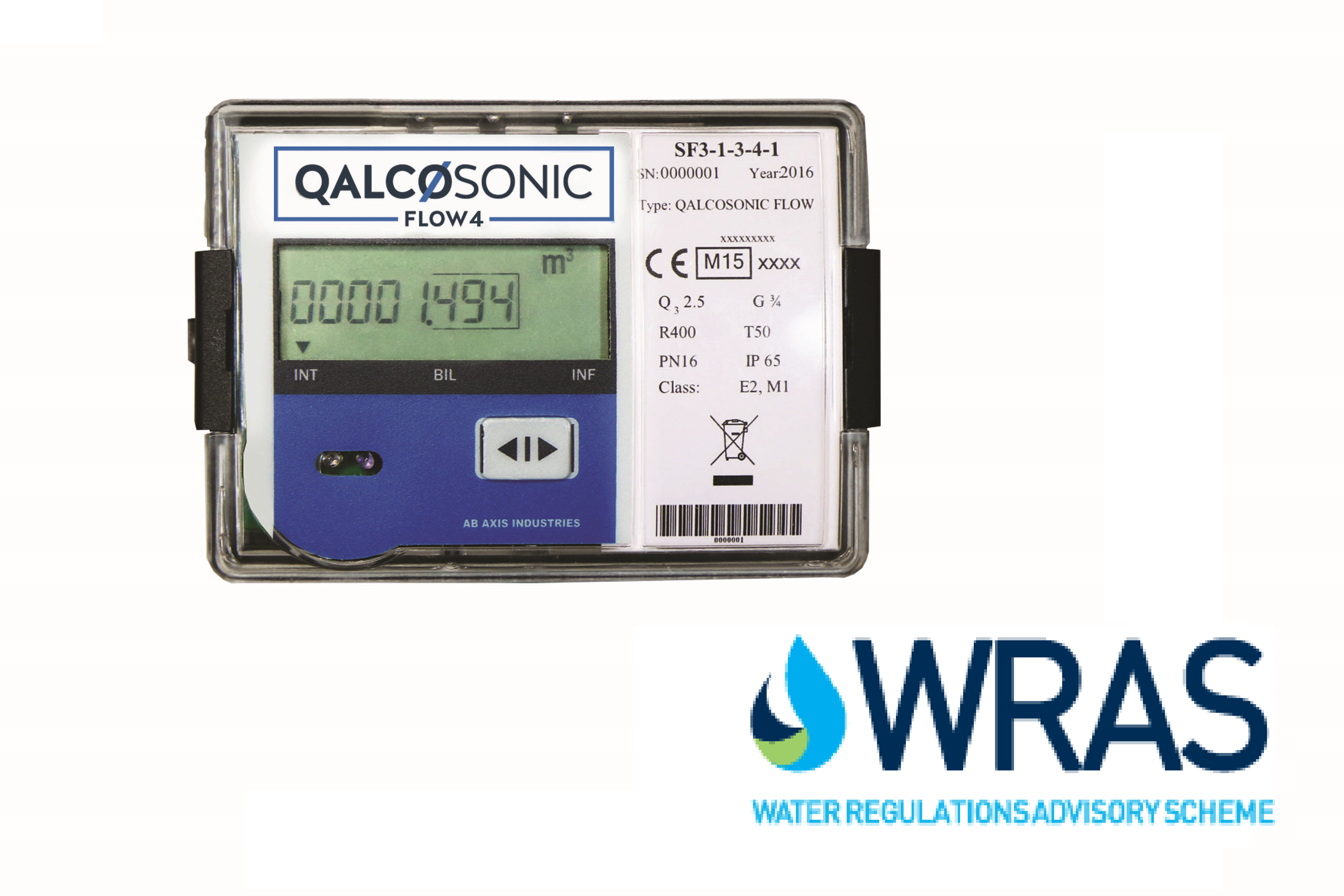 Qalcosonic Flow 4 Ultrasonic Water Meter Dn20 3 Q3 Mid Q Approved
