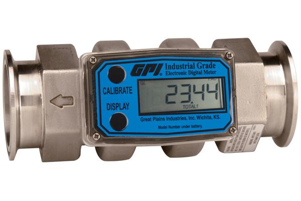 Inline Gas Flow Meter : Inline digital turbine flow meter quot triclove
