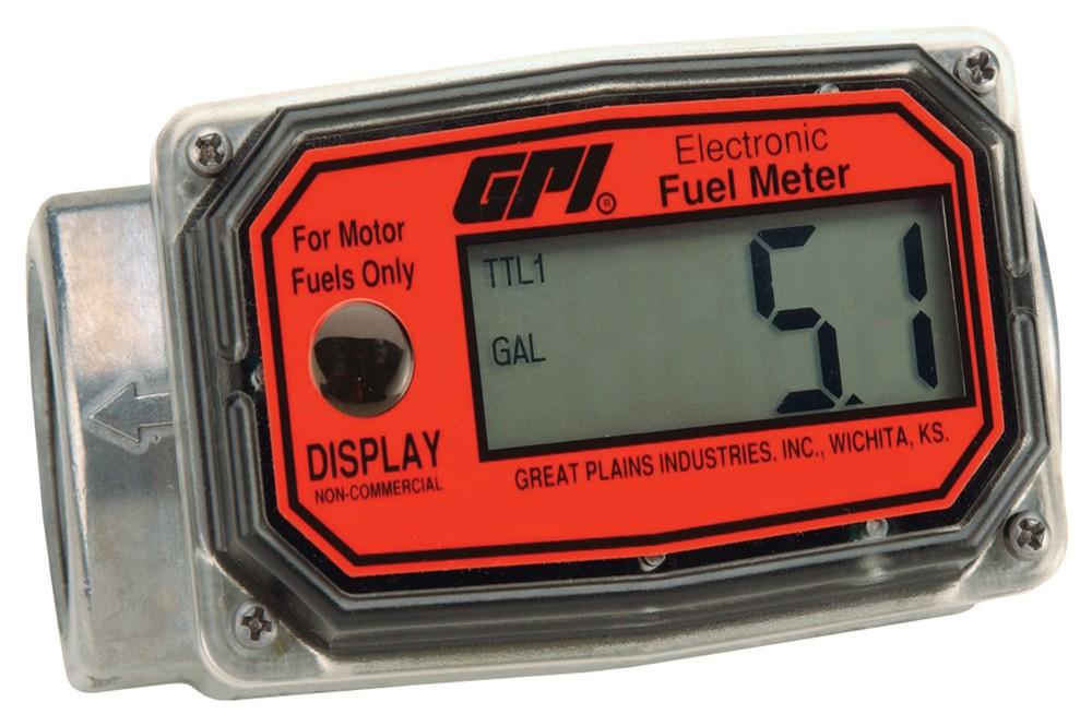 Inline Gas Flow Meter : In line digital fuel meter battery economy aluminium