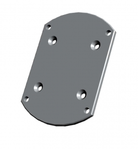 Aluminium wall mount bracket to suit Flowmeter models MX12