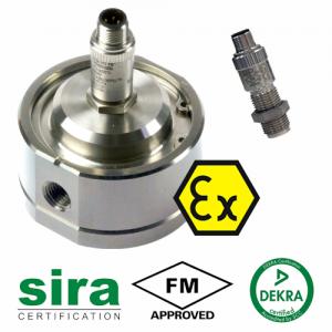 "MX06P-Ex Industrial Flow Meter :: 1/4"" Ports, 0.5 - 100L/Hr, 69bar (1000psi)"