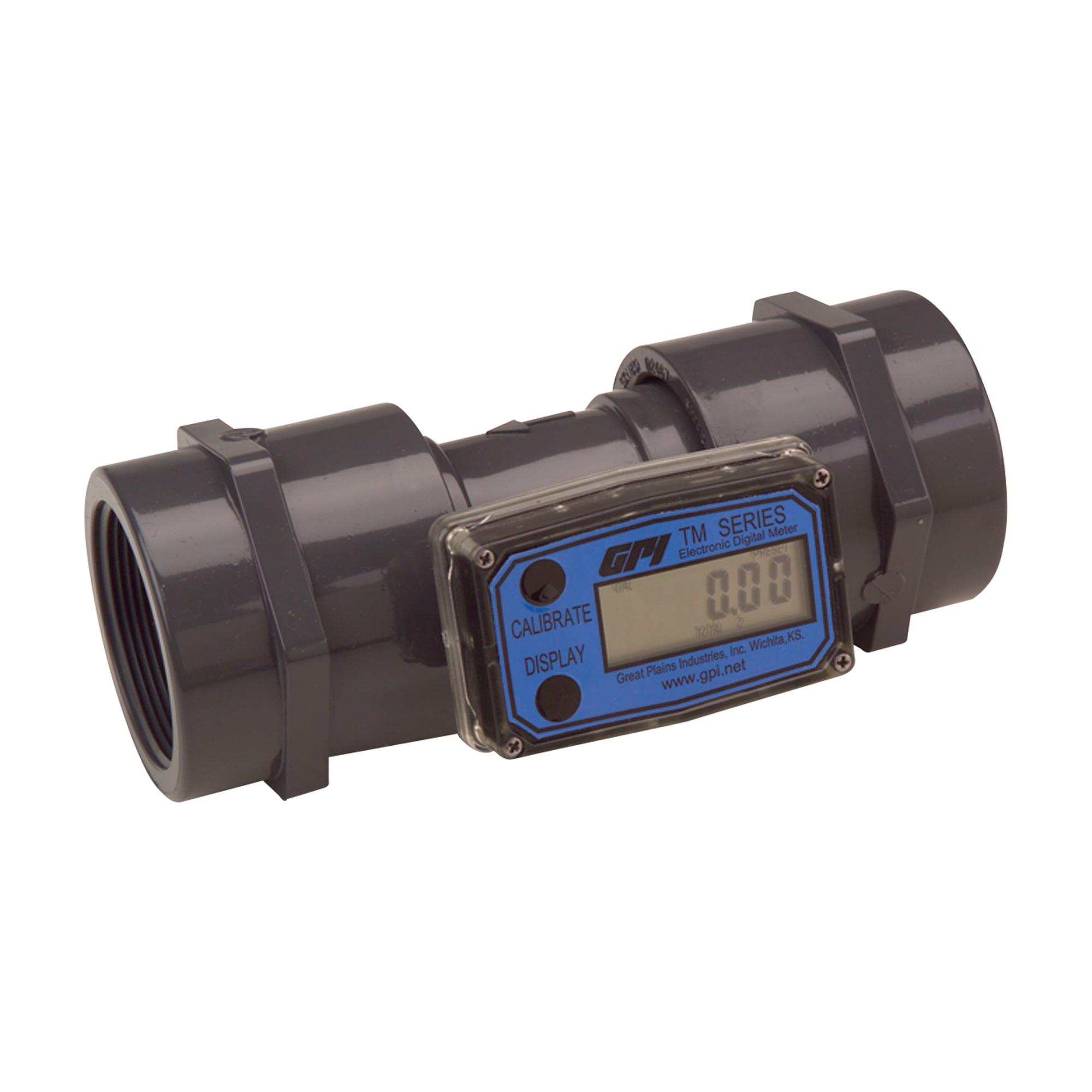 Inline Gas Flow Meter : Economical inline digital turbine flow meter quot npt
