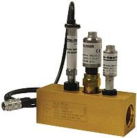 "Hydraulic Oil Flow Meter : 1"" BSP Turbine, 4-20mA output"