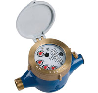 "Multi-Jet Water Meter (Cold) Dry Dial 1/2"" BSP :: Nuts, Tails, washers included"