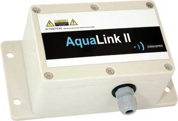 Aqualink II GPRS/GSM Data logger/alarm :: Battery powered with 2 x digital inputs, IP68 Enclosure