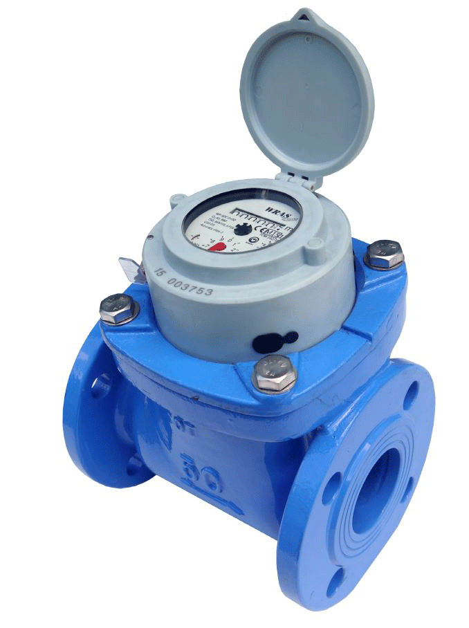 Dn400 Woltmann Helix Cold Water Meter Dry Dial Flanged