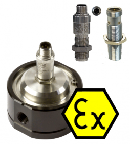 "MX06S-Ex Solvent Flow Meter :: 1/4"" Ports, 0.5 - 100L/Hr, 69bar (1000psi)"