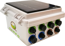 Qbic 4 or 8 Channel Data Logger, Web Portal Access and Built-in Solar Charger