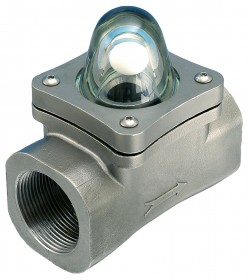 "10mm (3/8"" BSP(F) Stainless Steel Rising Ball Visual Flow Indicator"