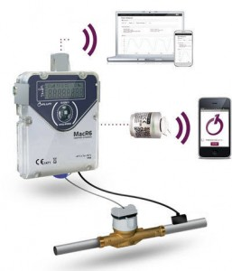 MacR6 GSM Data Logger :: water, flow + pressure, internal or external antenna, Pulse Input