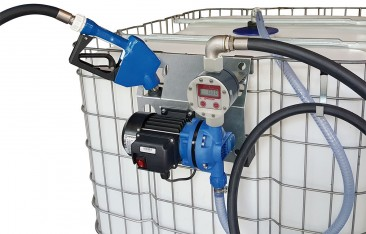 AdBlue™ IBC supply kit ::  230vAC Diaphragm Pump, Digital Flow Meter and Automatic Nozzle
