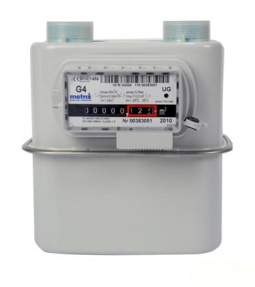 "Metrix Diaphragm Pulsed Gas Meter BS746 (Size: 1"", Qmin 0.04 m3/h Qmax 6 BS 746) :: 152.4mm Centres"