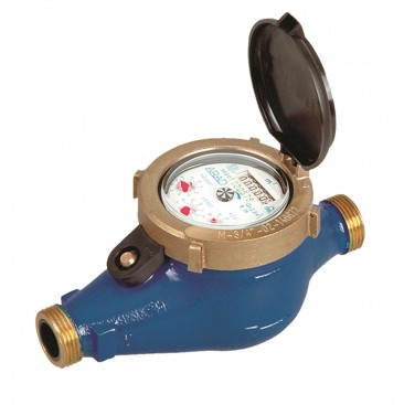 "DN32 Arad M-Series Multi-Jet Water Meter (Cold) Dry Dial 1 1/4"" BSP :: Nuts, Tails, washers included"