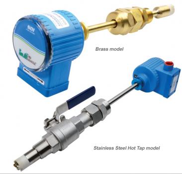 SDI Series Insertion Flow Meter, Choice of Materials and options