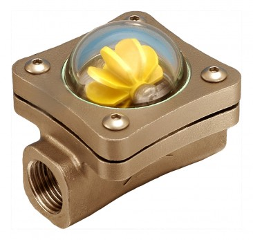 "40mm (1 1/2"" BSP(F) Bronze Spinner Visual Flow Indicator"