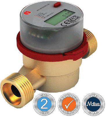 VADH20 LCD Hot Water Meter :: Battery Powered