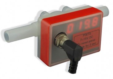 Beer Flow Meter with Integral LED Counter in UK Pints :: 3/8