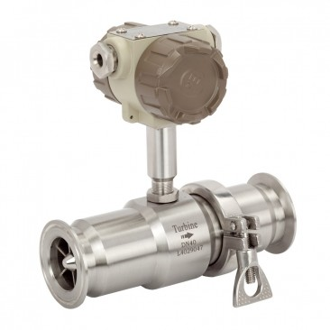Liquid Flow Turbine Meter::  15mm ID, Range 10 - 100 l/min