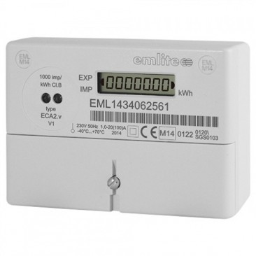 EMLITE  - ECA2 MID Single Phase kWh electricity meter