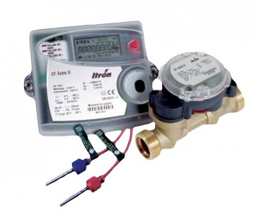 "CF ECHO II Ultrasonic Heat Meter Assembly DN20 :: Qp 2.5 (includes 3/4"" Reducing Connections)"