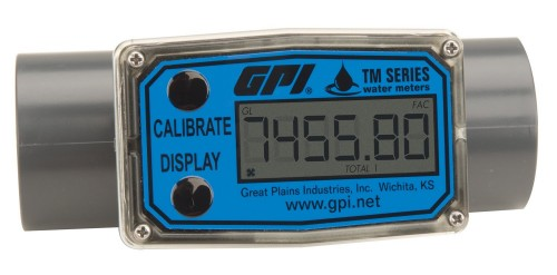 "Economical Inline Digital turbine flow meter 1 1/2"" NPT"