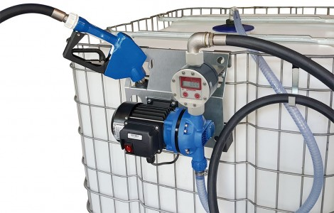 AdBlue™ IBC supply kit ::  230vAC Diaphragm Pump and Manual Nozzle