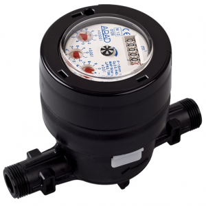 DN20 Arad Gladiator Volumetric Water Meter (Cold) Dry Dial Composite :: Nuts, Tails, Washers included