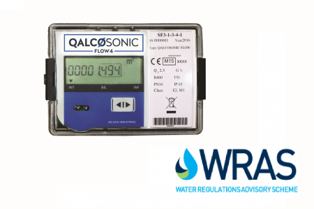"Qalcosonic Flow 4 Ultrasonic Water Meter DN15 : 1/2"" Q3 2.5 MID Approved"