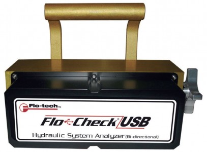 "USB Hydraulic system analyzer :: 1 1/2"" BSP, 26-757 L/min, P,T & Q Logging and Download"