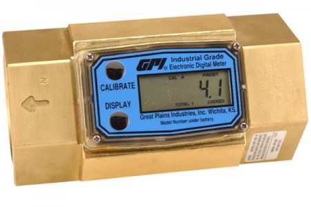 Inline Digital Brass turbine flow meter