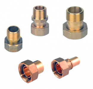 "1"" BS746 to 22mm plain UK Standard Brass Connection (each)"