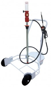KNCE-200E Mobile Pneumatic Pump Kit for 200 Litre Drum with Digital Totaliser and Hose Reel :: 3:1 Ratio