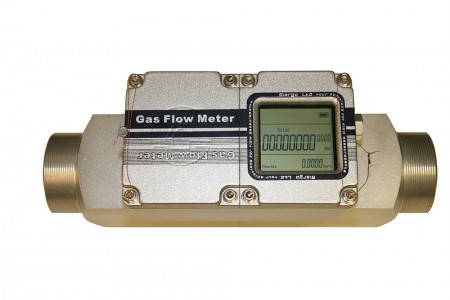 "Digital Gas Flow Meter:: DN32,  0.1 - 10 Nm3/hr 1 1/4"" BSP Connections"