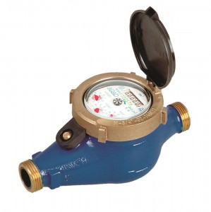 "DN25 Arad M-Series Multi-Jet Water Meter (Cold) Dry Dial 1"" BSP :: Nuts, Tails, washers included"