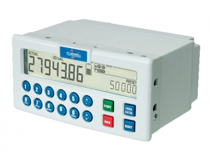 Fluidwell N410 DIN panel mount batch controller with numerical keypad