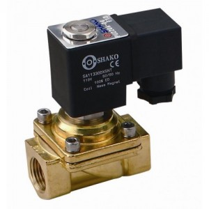 "3/8"" Brass NC 2-way assisted lift solenoid valve"