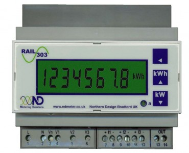 RAIL 303 :: DIN Rail mount electricity meter