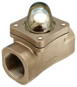 "8mm (1/4"" BSP(F) Bronze Rising Ball Visual Flow Indicator"