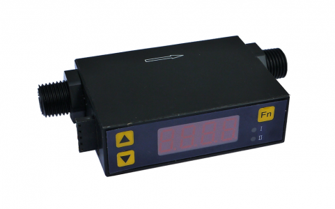 Low Flow Gas Meter:: DN8 ,  0 - 20 SLPM , LED Display, 8-18V DC