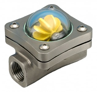 "8mm (1/4"" BSP(F) Stainless Steel Spinner Visual Flow Indicator"