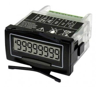 10 yr Battery Powered Scaleable Remote LCD Counter - Panel Mount