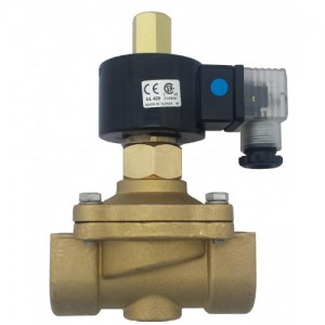 "½"" Brass NO 2-way assisted close solenoid valve"