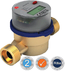 VADC20 LCD Cold Water Meter :: Battery Powered