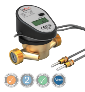 "VuHeat DN20 Compact Single-Jet Heat Meter: : Qp 2.5 (3/4"" Reducing connections included)"
