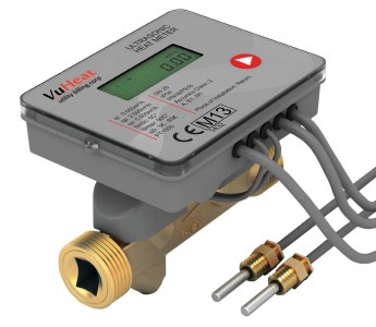 "VuHeat DN20 Compact Ultrasonic Heat Meter: : Qp 2.5 (3/4"" Reducing connections included)"